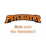Psychiatry / Disorders 38.5 x 24.5 Wall Peel