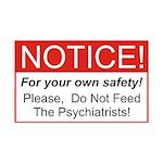 Notice / Psychiatrists 38.5 x 24.5 Wall Peel