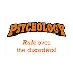 Psychology / Disorders 38.5 x 24.5 Wall Peel