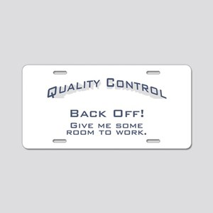 Quality Control / Work Aluminum License Plate