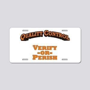 Quality Control / Verify Aluminum License Plate