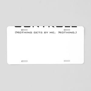 Q Controll Aluminum License Plate