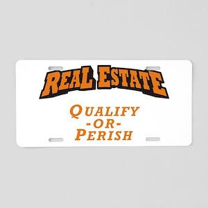 Real Estate / Qualify Aluminum License Plate
