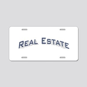 Real Estate / Blue Aluminum License Plate