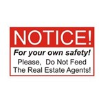 Notice / Real Estate 38.5 x 24.5 Wall Peel