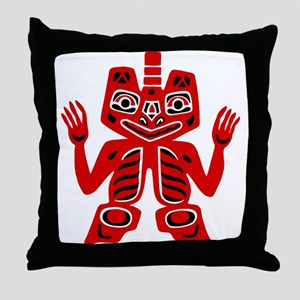 Haida Indian Design Throw Pillow
