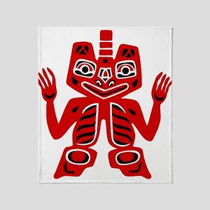 Haida Indian Design Throw Blanket
