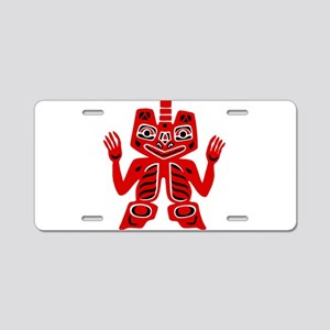 Haida Indian Design Aluminum License Plate