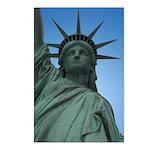 New York Souvenir Postcards 8 pk Statue of LIberty