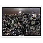 New York Souvenir Small Poster NY City Lights Gift
