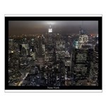 New York Souvenir Small Poster NY City Lights Gift