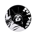 New York Souvenir Button Statue of Liberty Button