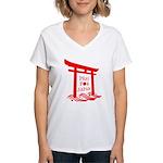 Pray for JAPAN Women's V-Neck T-Shirt