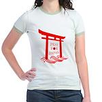 Pray for JAPAN Jr. Ringer T-Shirt