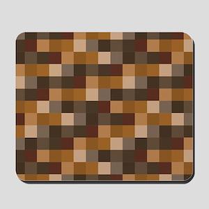 Brown Pixelated Pattern | Gamer Mousepad