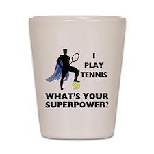 Tennis Superpower Shot Glass