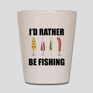 I'd Rather Be Fishing Shot Glass
