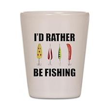 I'd Rather Be Fishing Shot Glass