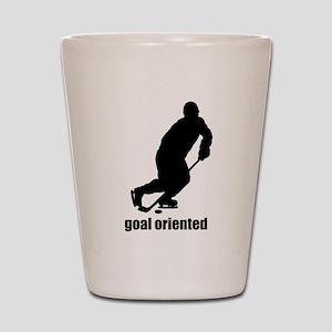 Goal Oriented Hockey Shot Glass