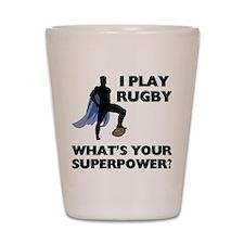 Rugby Superhero Shot Glass