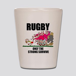 Only The Strong Rugby Shot Glass