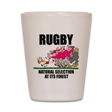 Natural Selection Rugby Shot Glass
