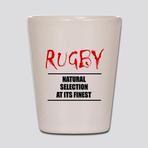 Rugby Natural Selection Shot Glass