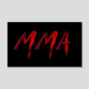 MMA 20x12 Wall Decal
