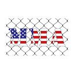 USA MMA 35x21 Wall Decal