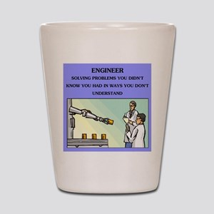funny engineering joke Shot Glass