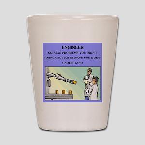 engineer engineering joke Shot Glass