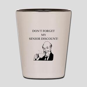 retiree senior citizen Shot Glass