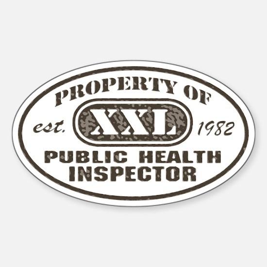 Public Health Inspector Oval Decal