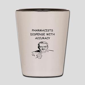 funny pharmacist Shot Glass