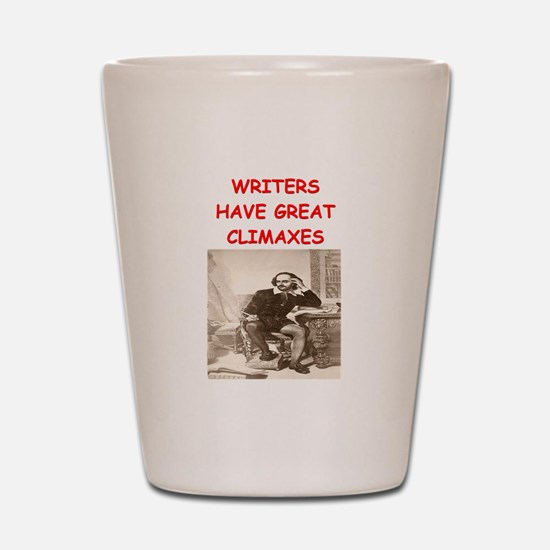 author and writers joke Shot Glass