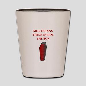mortician undertaker Shot Glass