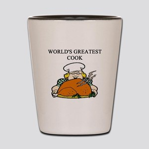 cook gifts t-shirts Shot Glass