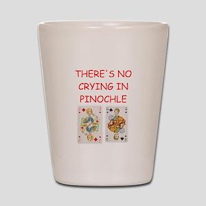 pinochle Shot Glass