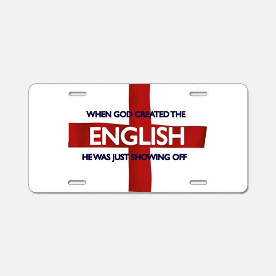 England Flag St George's Day Aluminum License Plat