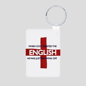England Flag St George's Day Aluminum Photo Keycha