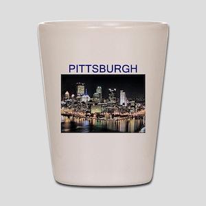 pittsburgh gifts and tee-shir Shot Glass