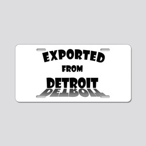 Exported From Detroit Aluminum License Plate