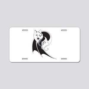 Wolf & Dragon Aluminum License Plate