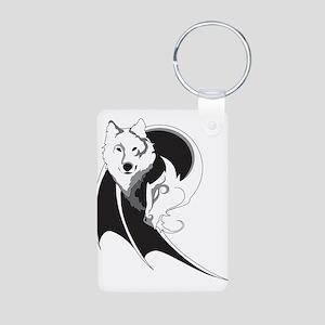 Wolf & Dragon Aluminum Photo Keychain