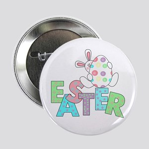 Bunny With Easter Egg Button