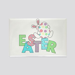 Bunny With Easter Egg Rectangle Magnet