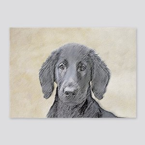 Flat-Coated Retriever 5'x7'Area Rug