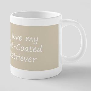 Flat-Coated Retriever 20 oz Ceramic Mega Mug