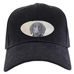 Flat-Coated Retriever Black Cap with Patch