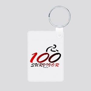 Century Survivor Aluminum Photo Keychain
